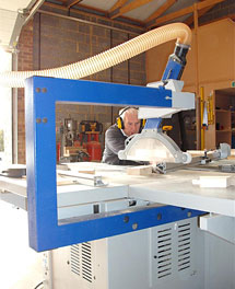 Bespoke Carpentry and Joinery - Dennis operating machinery