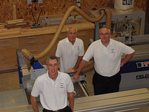 Dennis, Rob and Stuart in the workshop
